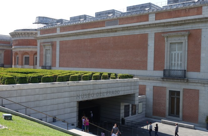 Photo of the outside of the Prado Museum entrance. Frolic & Courage.