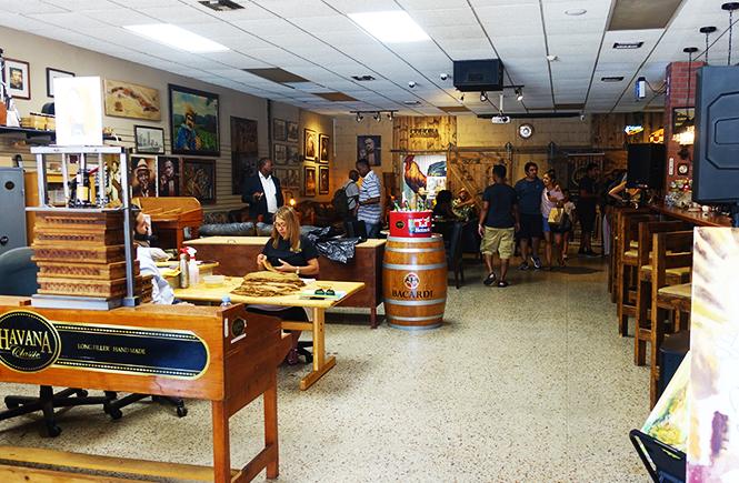 Photo of the Havana Classic workroom and cigar lounge in Little Havana Miami Fl.