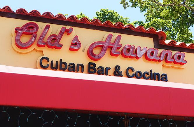 Photo of the Old's Havana Cuban Bar & Cocina restaurant sign.
