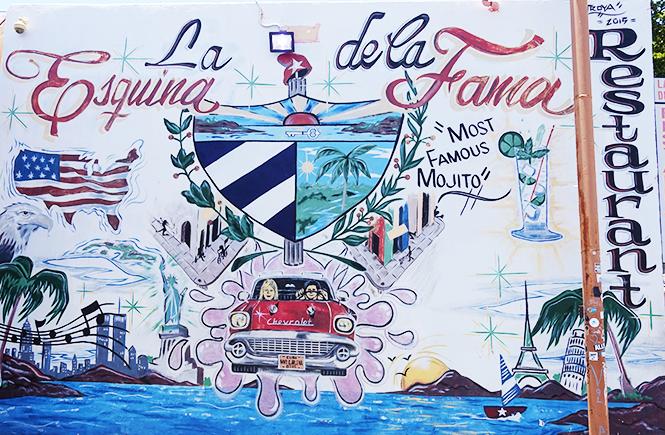 "Photo of wall art titled, """"La Esquina de la Fama."""