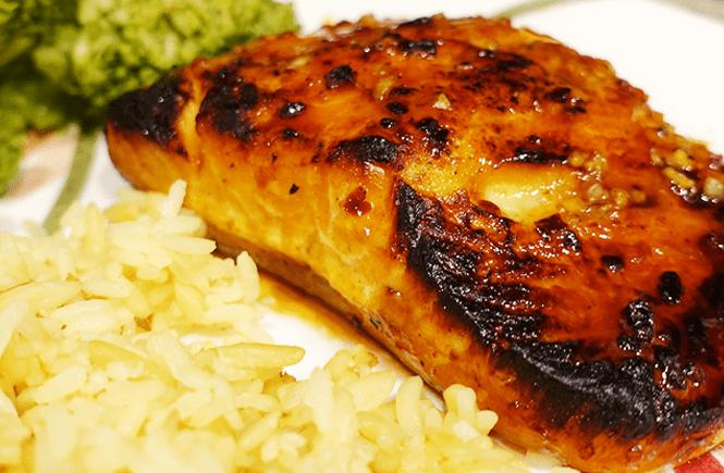 Photo of honey garlic salmon - Frolic & Courage.