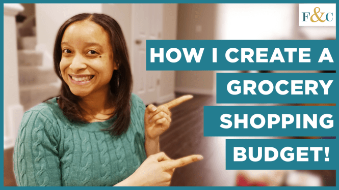 Thumbnail for the How I Create a Grocery Shopping Budget   Excel Spreadsheet Template   Frolic & Courage YouTube video.