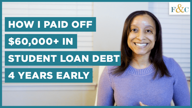 YouTube thumbnail of how I paid off my student loan debt four years early.
