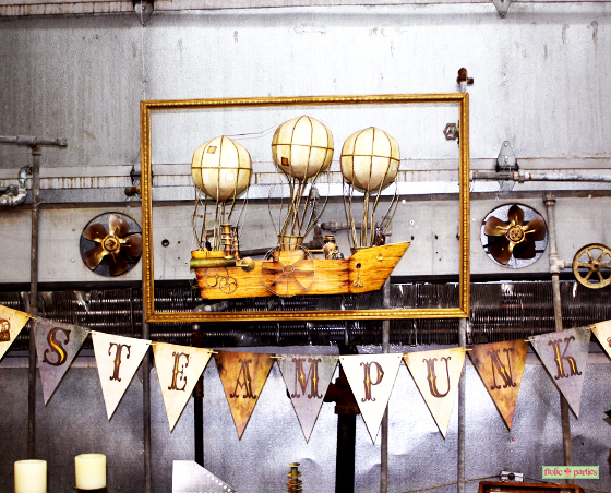 steampunk party banner