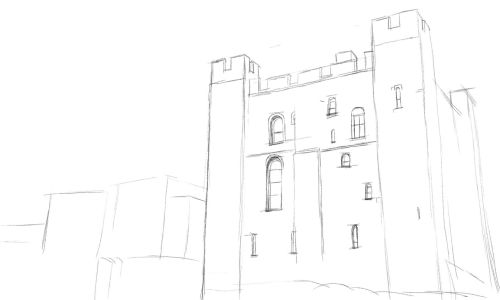 Castle Drawing. Draw a Castle in an Easy Step by Step