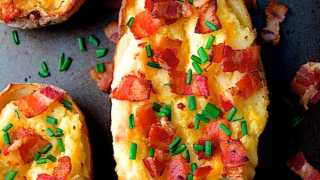 Cheddar and Bacon Twice-Baked Potatoes