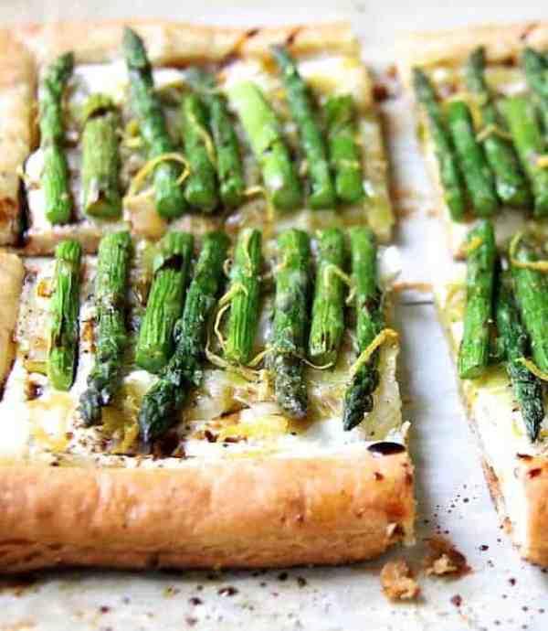 Asparagus, Spring Onion and Fontina Tart