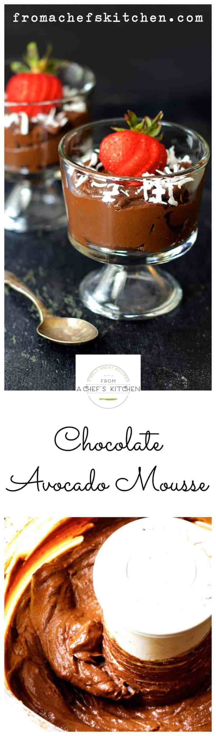 Chocolate Avocado Mousse is so simple to prepare you won't believe it!  Best of all, sinfully rich and healthful peacefully coexist in this Paleo-friendly and refined sugar-free dessert! #chocolate #avocado #desserts #Paleo