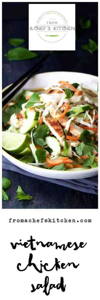 Vietnamese Chicken Salad will rock your world with flavor! Full of fresh herbs, vegetables and a good dose of healthy!