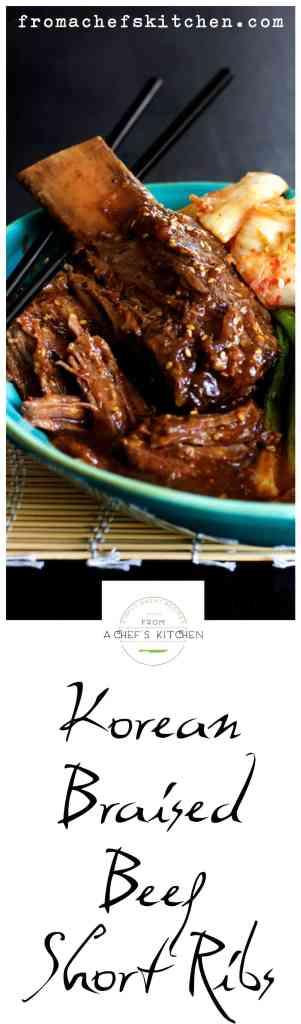 These Korean Braised Beef Short Ribs are buttery and fall-off-the-bone tender!