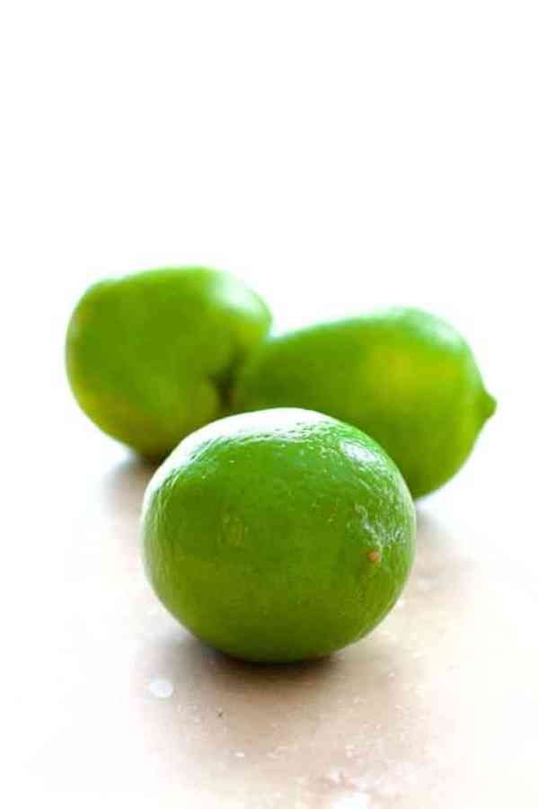 Picture of three limes on marble
