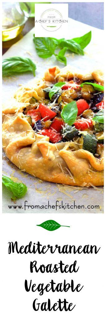 This Mediterranean Roasted Vegetable Galette is elegant yet fuss-free!