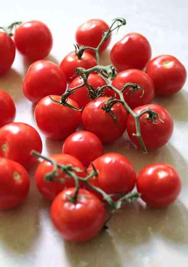 Campari tomatoes still on the fine