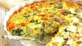 Crustless Spinach Artichoke Jalapeno Quiche