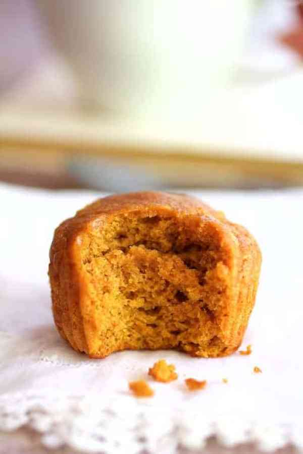 Simply Pumpkin Muffins - With bite taken out of muffin