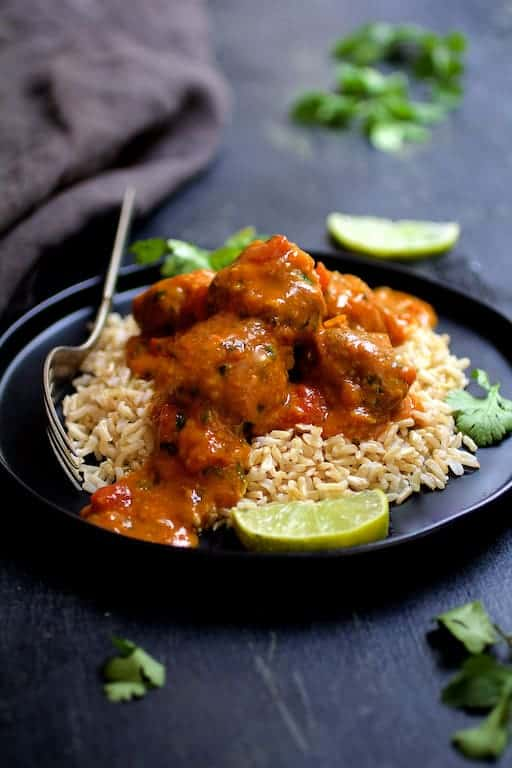 Meatballs in Spicy Curry
