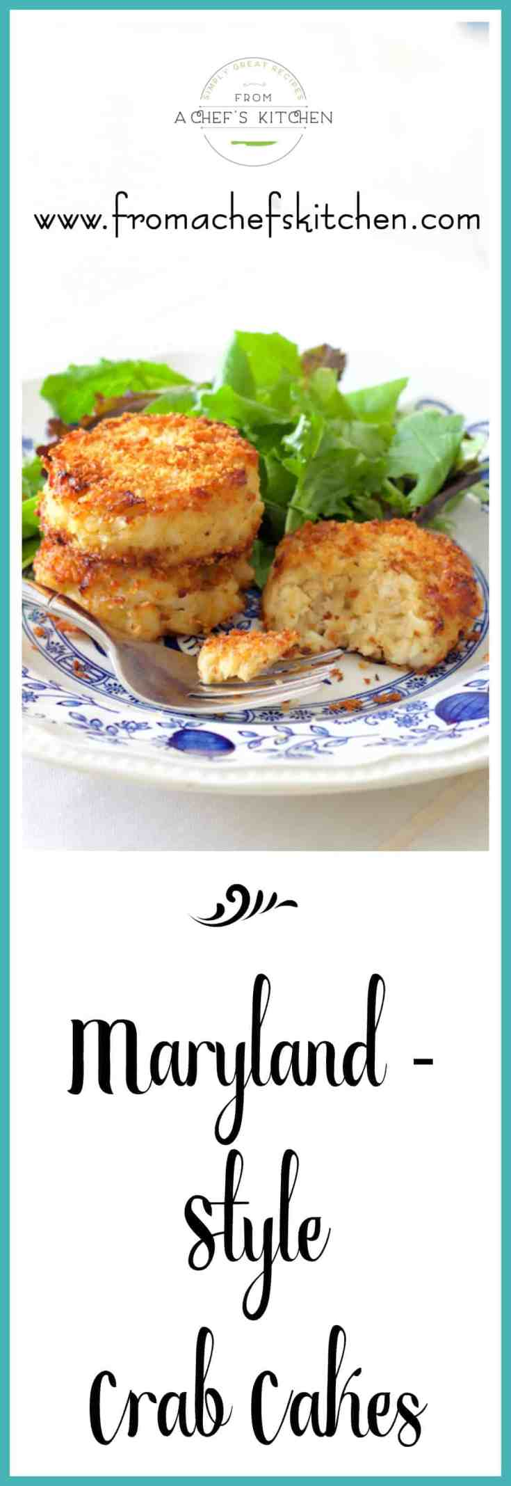 Maryland-Style Crab Cakes are from a recipe handed down several generations so they're the REAL DEAL! #crab #crabcakes #marylandcrabcakes #fish #seafood #seafoodrecipes