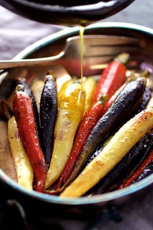 Curry Roasted Carrots with Honey Browned Butter