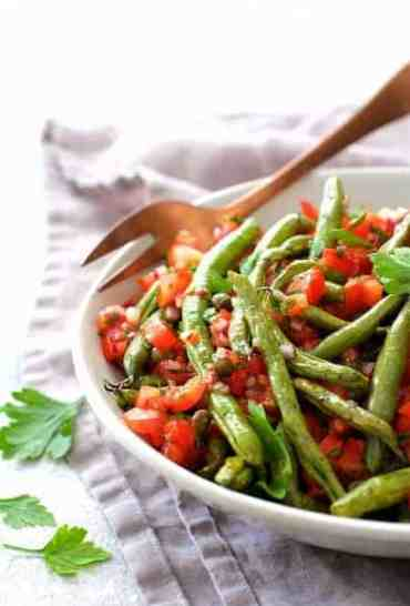 Green Beans with Tomato Caper Relish