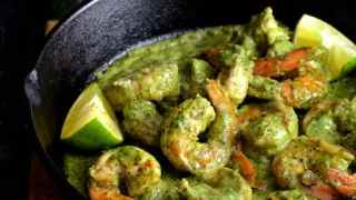 Shrimp in Avocado Butter