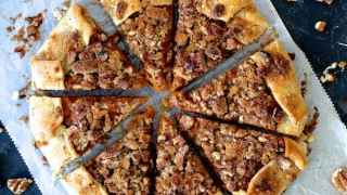 Sweet Potato Galette with Pecan Streusel Topping