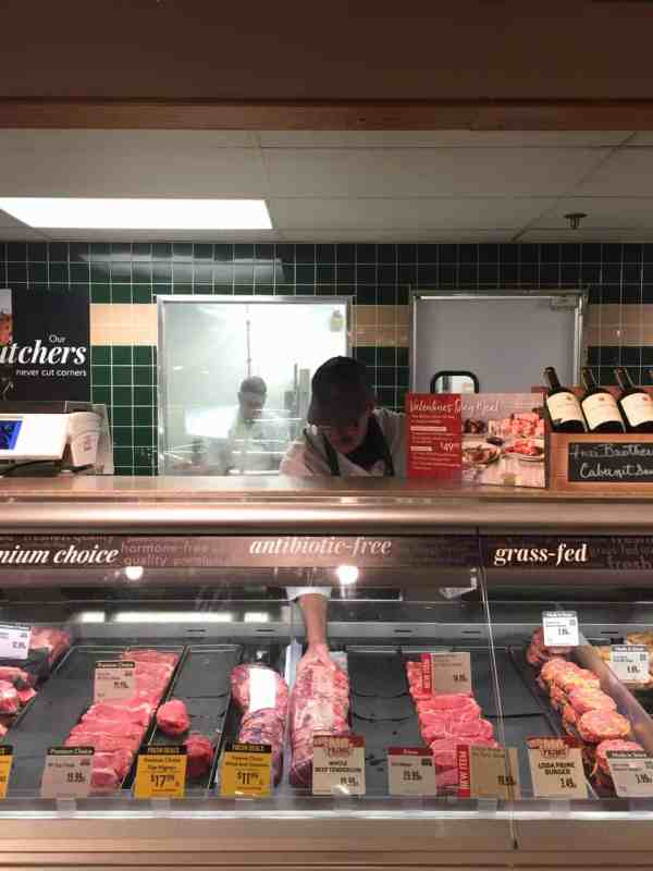 Steak au Poivre and Broiled Lobster Tail - Meat counter at The Fresh Market