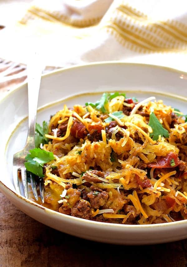 Spaghetti Squash Fideos