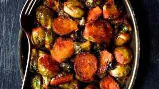 Sriracha Sweet Chili Roasted Brussels Sprouts