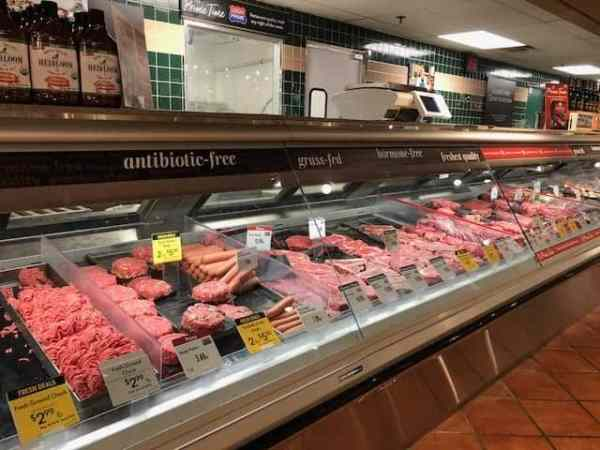 Grilled Burgers with Bacon Tomato Jam and Smoked Gouda + The Fresh Market's Father's Day Meal - Another photo of the meat counter at The Fresh Market