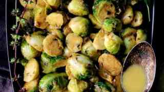 Roasted Brussels Sprouts with Thai Green Curry Butter