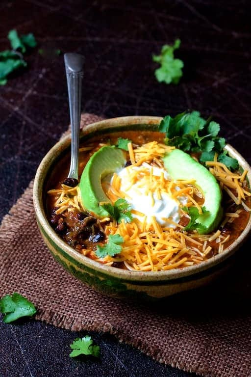 Beef and Chorizo Chili with Black Beans For A Crowd