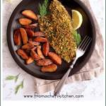 Pistachio Crusted Fish with Lemon Dill Aioli is aneasy restaurant-quality meal that's perfect for date night and it's ready in 30 minutes! #fish #pistachio #lemon #dill #aioli