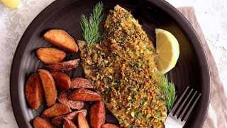 Pistachio Crusted Fish with Lemon Dill Aioli
