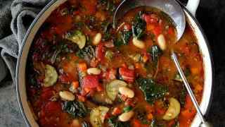 Smoky Spanish Vegetable and White Bean Soup with Kale