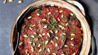 Healthier Turkish Eggplant Casserole - Imam Bayildi