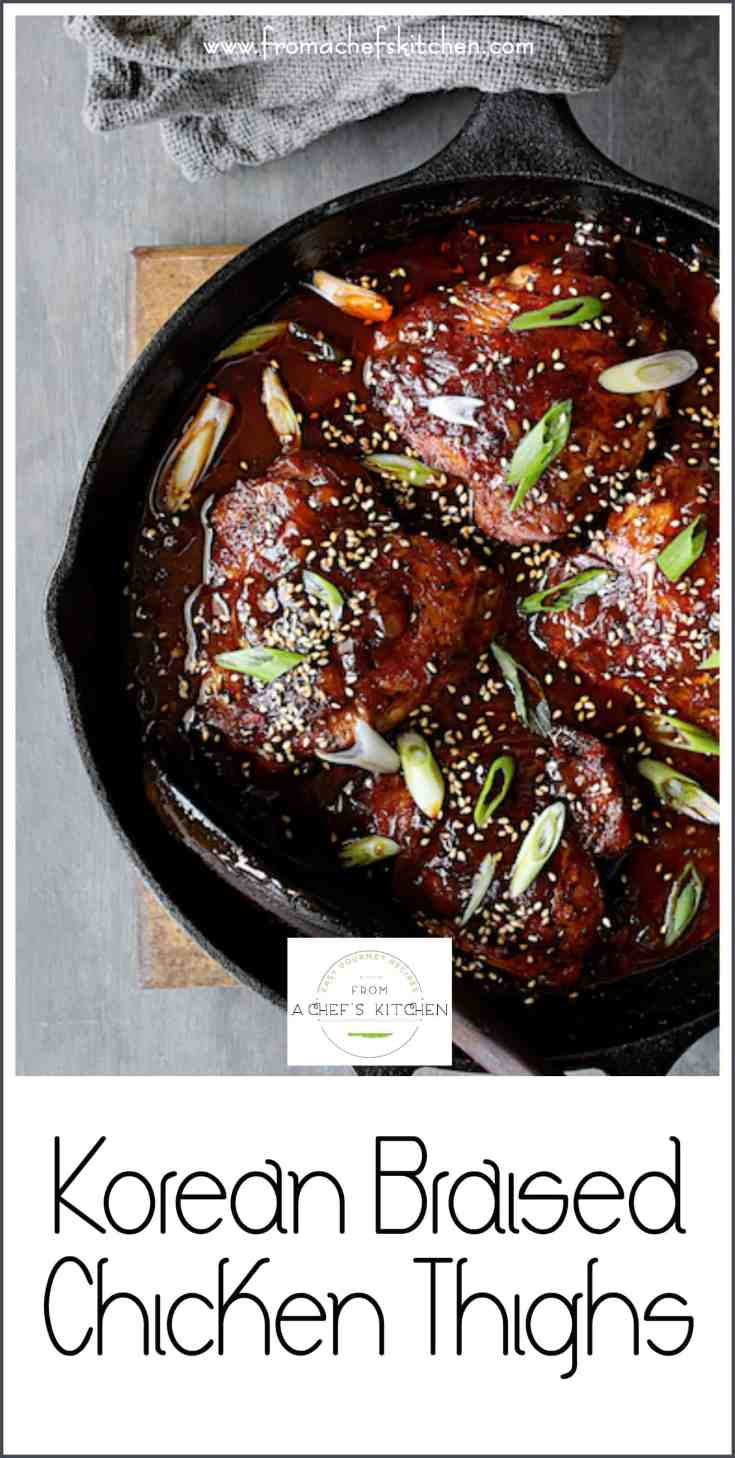 Korean Braised Chicken Thighs use the most flavorful and budget-friendly part of the chicken for a dish you'll crave again and again! #Koreanfood #Korean #chicken #chickenthighs