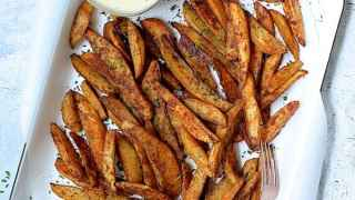 Old Bay Roasted Potato Wedges with Vermont Cheddar Cheese Sauce