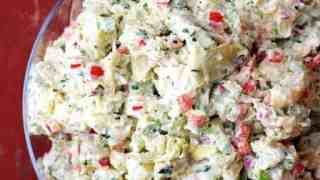 Potato - Artichoke Salad with Horseradish Dressing