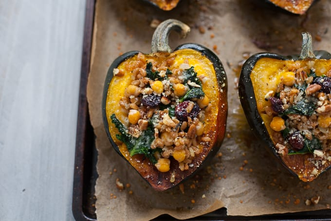Thanksgiving Stuffed Acorn Squash
