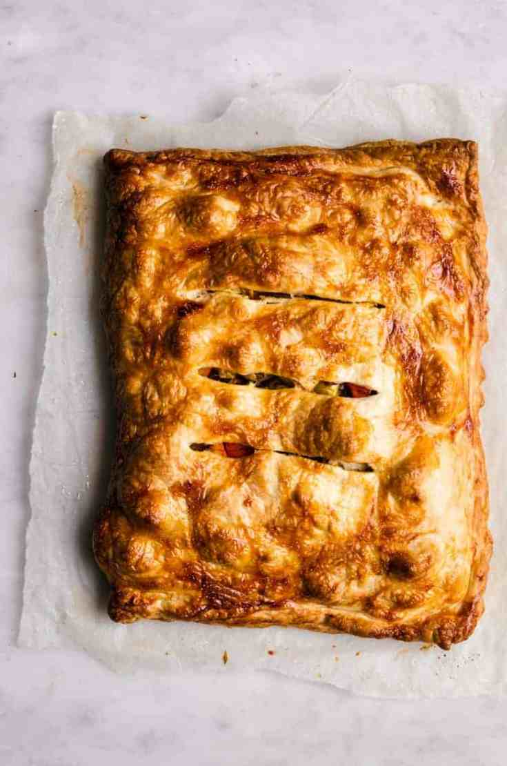 Roasted Vegetable Pie with Puff Pastry