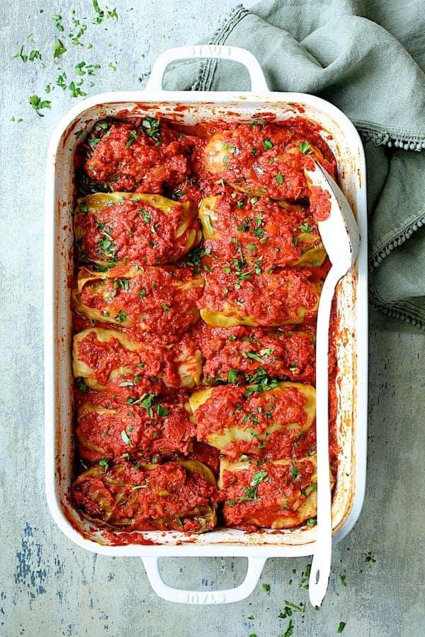 Spicy Italian Stuffed Cabbage Rolls