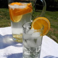 Trying to Drink More Water – Orange Ginger Water