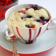 Blueberry Muffin in a Teacup for Breakfast Ideas Mondays and Mothers' Day
