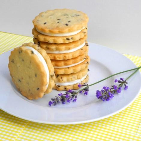 lemon filled lavender shortbread