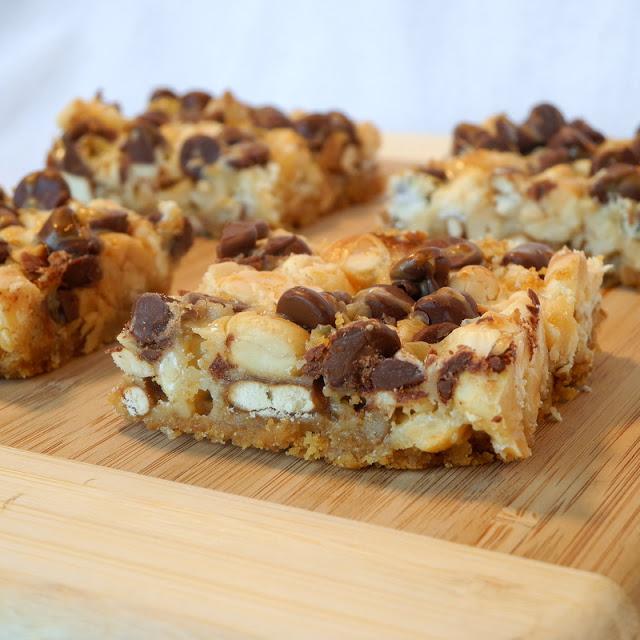 Sweet and Salty Pretzel Peanut Bars