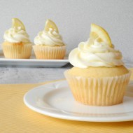 Raspberry Filled Lemon Cupcakes