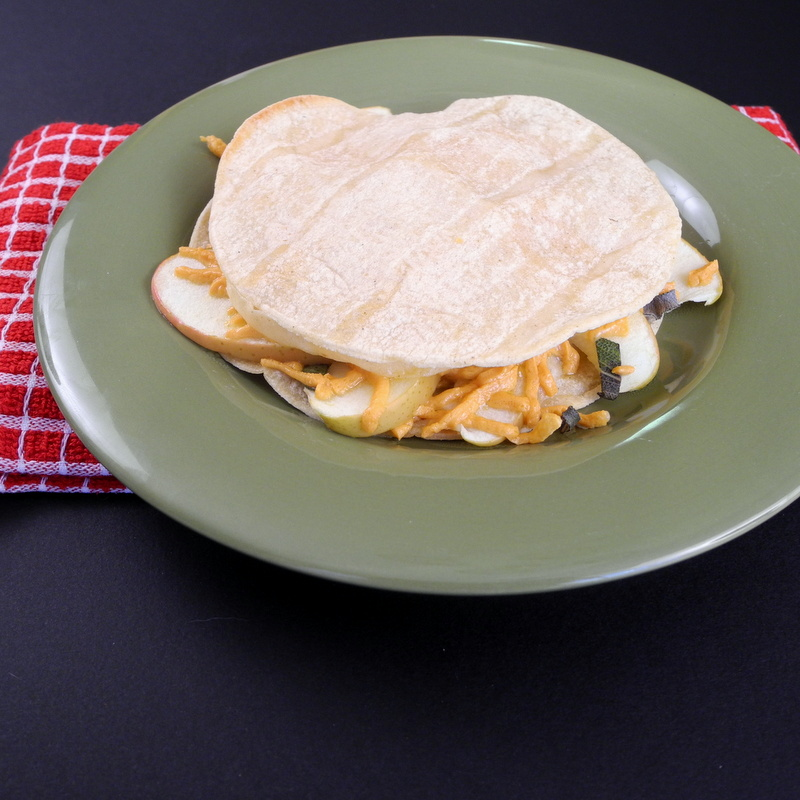 Cheddar Apple Quesadillas