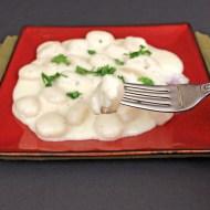 Gnocchi with Gruyere-Manchego Sauce