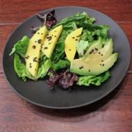 Avocado Mango Salad with Black Sesame Dressing
