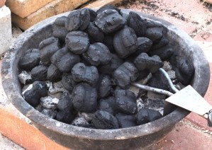 Lighting the Charcoal in a Smoker